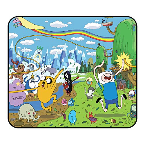 Ad_Venture Time Mouse Pad - Anime Cartoon Comic Game Mouse Pads ,Non-Slip Mouse Mat with Delicate Edges,Mousepad for Kids Office Dorm Computer Laptop 11.819.840.12Inch(30250.3cm)