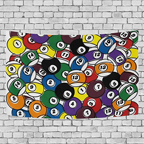 COOSUN Billiard Ball In One Tapestry Wall Hanging for Home Wall Decorative for Living Room Bedroom Dorm Decoration, 80