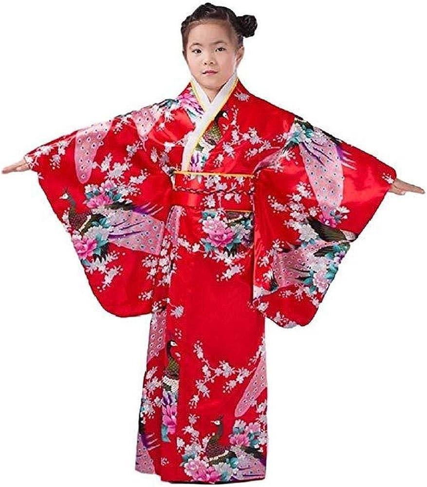 Child Boy Retro Japanese Kimono Yukata Set Robe Gown Asian Costume Cosplay