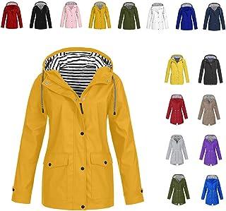 Veste de Pluie Longue pour Femme Manteau /à Capuche Coupe-Vent Imperm/éable dExt/érieur