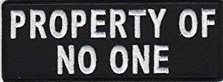 D-PATCH - Property of NO ONE Iron On Patch Bikers Vest Sayings Decor DIY Handmade