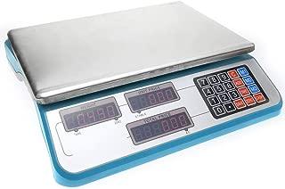 PrimeMatik - Balanza mostrador de sobremesa con Bandeja de 34x24cm báscula 30Kg Azul