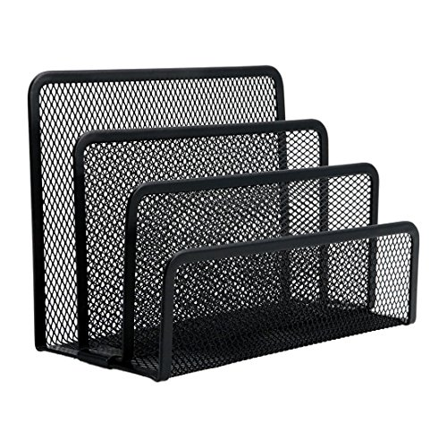 ACAMPTAR Negro Mesh Letter Sorter Mail Document Desk Tray Office File Organizer Business