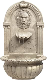 Koehler 32428 30 Inch Indoor/Outdoor Lion Head Wall Fountain