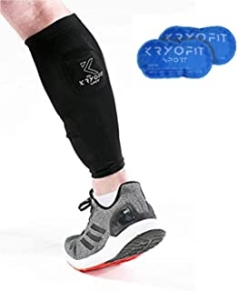 World's ONLY Cold/Hot Calf Compression Sleeve – Includes Ice Freeze Cryo Packs