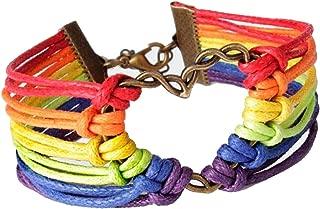 LGBT Bracelet, Lesbian Pride Jewelry, Rainbow Pride Bracelet & Perfect Gay Lesbian Braided Bracelet Gifts, Men & Women