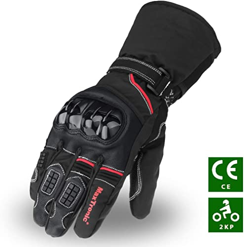 Riparo Motorsports Gants en Cuir v/éritable avec Filet pour Le Cyclisme ou la Moto pour Homme Petit Fil Rouge Noir