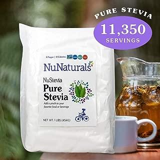 NuNaturals Pure White Stevia Extract Powder Natural Sweetener, 1 Pound