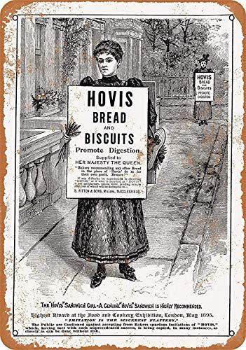 Hovis Brood Koekjes Tin Muurbord Aluminium Waarschuwing Plaque Retro IJzeren Schilderen Metalen Poster Artwork Decor voor Garage Home Garden Bar Café
