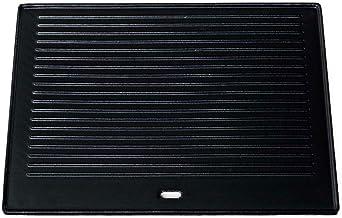 CLP Gusseisen-Grillplatte I Für Gasgrill, Kohlegrill & Elektrogrill, Farbe:anthrazit, Größe:41.3x30.5 cm