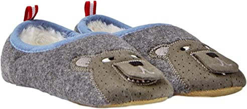 Joules Kids Boy's Slippet Felt Mule Character Slippers Grey Bear X-Large