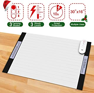 Pet Shock Mat - 30 x 16 Inches Pet Training Mat for Dogs & Cats, 3 Training Mode Shock Mat for Cats & Dogs, Indoor Use Pet Training Pad w/LED Indicator, Flexible Mat, Long Battery Life