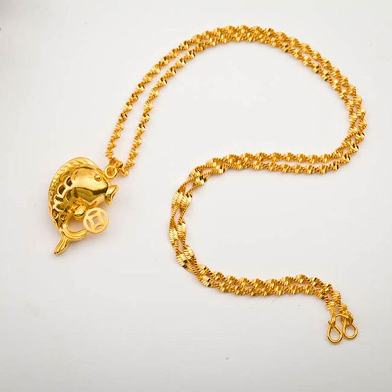Aoligei Viet Nam Gold und Silber Feuer schmelzen au Münze Schmuck aushöhlen Geld Fisch Anhänger Mode Halskette Frauen verGoldet Elry B07CVXBS7Z Vorzüglich  | Bekannt für seine schöne Qualität