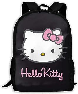 CHLING Lightweight Backpack Briefcase Laptop Shoulder Bag Black Hello Kitty Classic Basic Water Resistant Daypack Bag