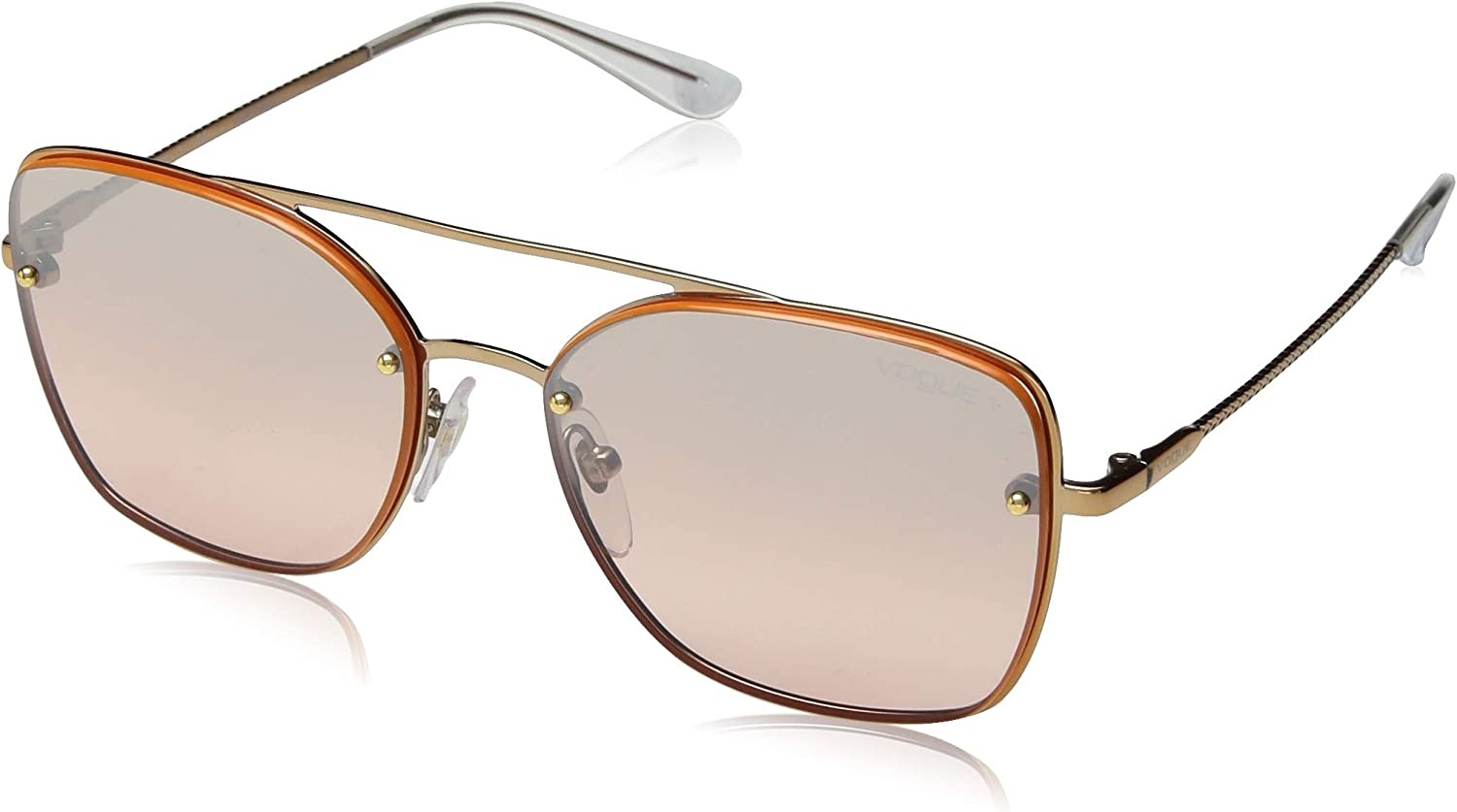 VOGUE Women's 0vo4112s Square Sunglasses pink gold 56.0 mm