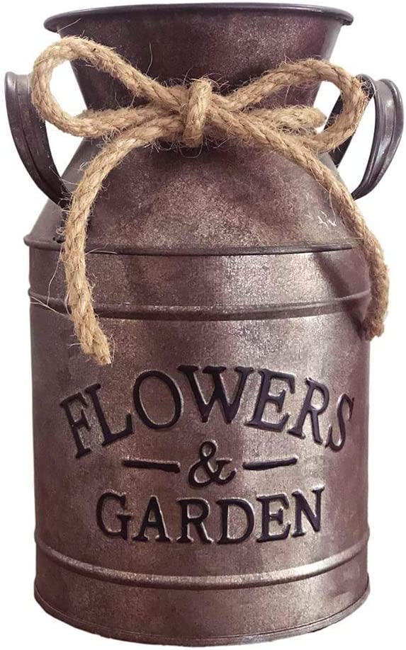 shipfree Bronze Farmhouse Decoration Vase Excellent for Dried Country Rusty Flowers