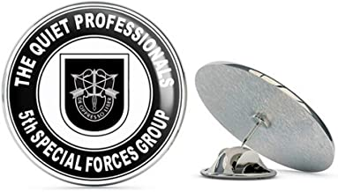 Veteran Pins US Army 5th Special Forces Group Flash Metal 0.75 Lapel Hat Pin Tie Tack Pinback