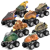 Dinosaur Toys for Kids 3-5 Year Old Pull Back Dinosaur Car for Toddler 8 Pack Truck Cars Toy Dino World Including T-Rex, Triceratops, for Kids, Boys & Girls