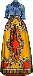 Women's African Print Skirts Long Maxi Skirt Dashiki Ball Gown
