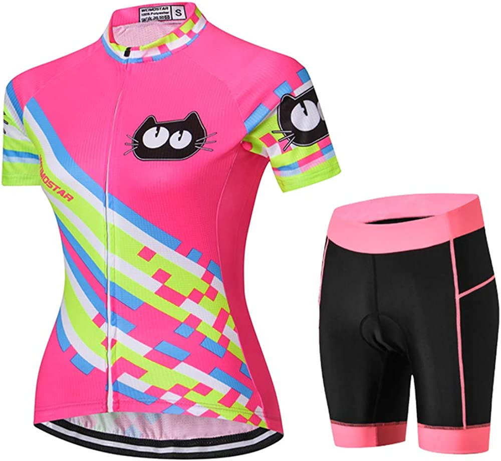 Women Cycling Jersey Max 80% OFF Shirt In stock Team Bike Clothing Summer Cat
