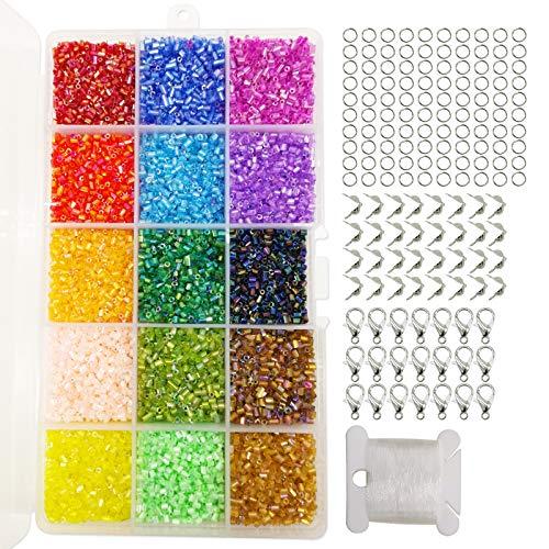 Approx. 2600 pcs. 2mm 20gr Czech Round Glass Seed Beads Rocailles,Opaque Lilas 11//0