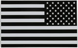 Black/White American Flag Vinyl Decal Sticker - Left and Right Side