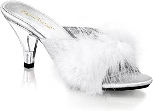 Heels Club Priscilla Reina Fluffy Slippers Mules Fancy Dress