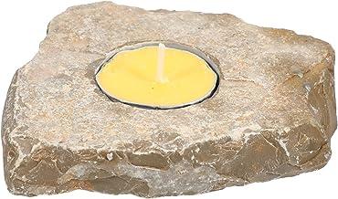 FRCOLOR Stone Tea Light Candle Holder Natural Agate Candle Holder Farmhouse Candle Holder Stand Holder for Home for Zen Ga...