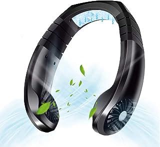 SSN Ventilador de Cuello con Enfriador de Aire Acondicionado, Ventilador Personal Ajustable de 3 velocidades Abanico de Cuello Manos Libres silencioso Recargable por USB para Viajes