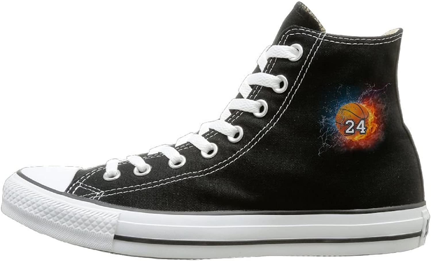 Classic High-Top Canvas Sneakers Water Fire Basketball 24 Casual Sneakers Canvas shoes With Rubber Sole