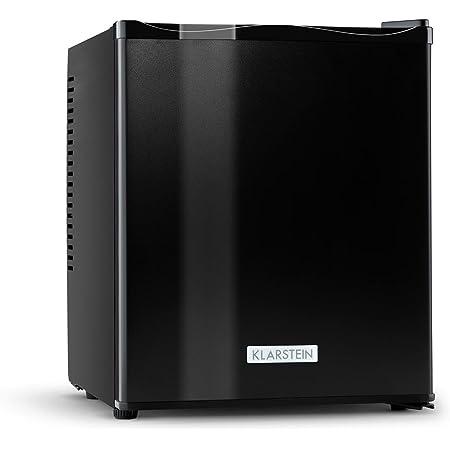 Klarstein MKS-11 • Minibar • Mini-réfrigérateur • Réfrigérateur à boissons • B • 25 Litres • Fonctionnement silencieux • 0 dB • env. 38 x 47 x 44,5 cm (LxHxP) • 3 niveaux de température • Noir