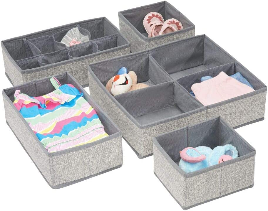 mDesign Soft Fabric Dresser Drawer Closet Organizer Storage and Outlet sale feature Max 79% OFF