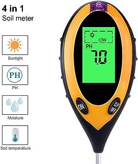 フォーインワン土壌測定計光測定計土壌酸度計PH計土壌湿度表示