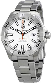 Aquaracer White Dial Automatic Mens Stainless Steel Watch WAY2013.BA0927