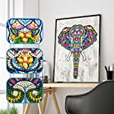 Iusun Special Shaped Elephant DIY 5D Diamond Painting Full Drill Crystal Crystals Embroide...