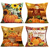Fukeen Set of 4 Decorative Throw Pillow Cover for Couch...