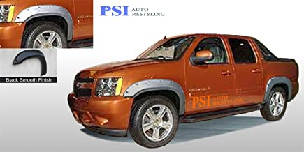 PSI Auto Restyling 802-0109 Pocket-N-Bolt Style Fender Flares Front And Rear Flare Width 5.25 in Tire Coverage 2.50 in. Smooth Black Pocket-N-Bolt Style Fender Flares