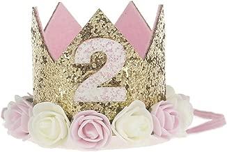Lovelegis Corona cumpleaños niña - niña - Dos años - Segundo ...