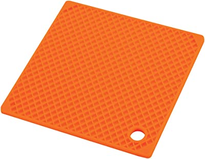 パール金属 シェフサポート シリコーン 鍋敷 角 オレンジ H-8854