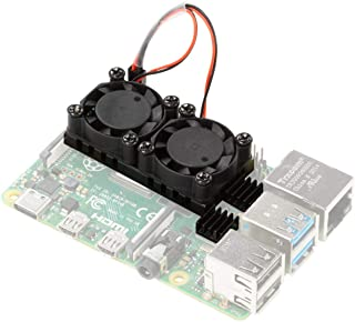 UCTRONICS for Raspberry Pi 4 Dual Fan, Pi 4 Cooling Fan with Heatsink, Dual Fan Kit for Raspberry Pi 4 Model B