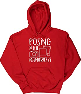 Posing for The Mamarazzi Men's Hoodie Hooded top Red