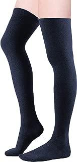 Women Over Knee Thigh High Socks Plus Size Tube Leg Warmers Stocking Cotton Cosplay Long Solid Leggings Sock