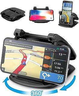حامل الهاتف المحمول للوحة عدادات السيارة، 360 درجة دوران قوي قوي الالتصاق 3M لوحة القيادة حامل الهاتف متوافق مع آيفون Xs م...