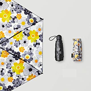 GHMOZ Ultra-Light Portable Pocket Umbrella Sunscreen UV Umbrellas Rain and Rain Umbrellas Available in Three Colors (Color : C)