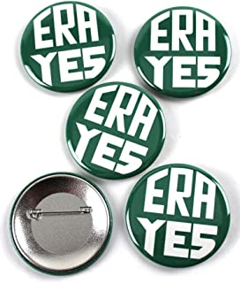 ERA YES – Equal Rights Amendment Vintage Design Pinback Buttons – 2.25 Inch Round – 5 Pack
