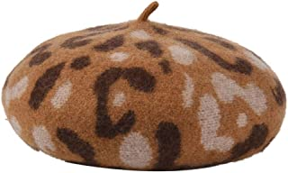 unjieqi Fashionable Wool Printing Berets Autumn Winter New Fur Painter Outdoor Casual Summer Hats for Women Beret Camel