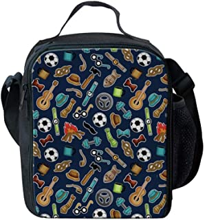 Children Football Lunch Bag Small for Kids Boys Girls Pack Lunch Bag for Adults Eco Lunchbox School Work