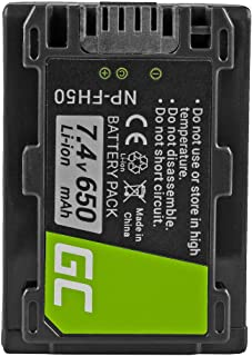 Green Cell® NP-FH100 NP-FH40 NP-FH60 NP-FH50 Batería para Sony DCR-DVD108 DCR-DVD110 DCR-DVD305 DCR-DVD310 DCR-DVD410 DCR-HC96 DCR-SR35 DCR-SR40 DCR-SX30 Cámara Full Decoded (650mAh 7.4V)