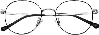 Carfia Damen Blaulichtfilter Brille ohne Sehst/ärke Runde Computerbrille Anti Blaulicht gegen M/üdigkeit und Kopfschmerzlinderung