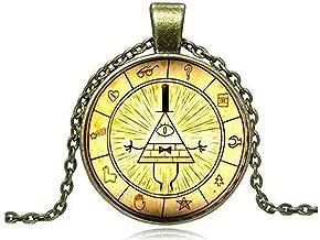 calhepco Drama Gravity Falls Toy Mysteries Bill Cipher Wheel Steampunk Pendant Necklace Fashion Jewelry